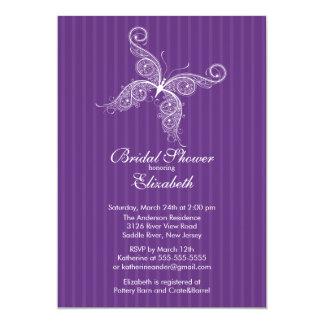 Invitación nupcial de la ducha de la mariposa