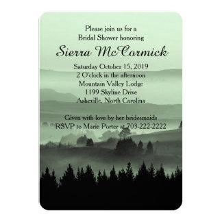 Invitación nupcial de la ducha de la montaña invitación 11,4 x 15,8 cm