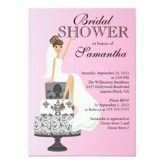 Invitación nupcial de la ducha de la novia