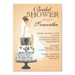 Invitación nupcial   de la ducha de la novia invitación 11,4 x 15,8 cm
