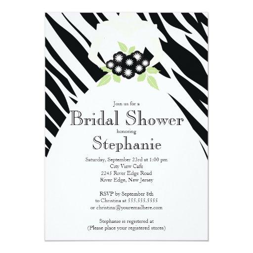 Invitación nupcial de la ducha de la novia blanca