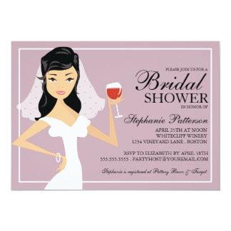 Invitación nupcial de la ducha de la novia del invitación 12,7 x 17,8 cm