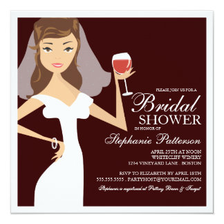 Invitación nupcial de la ducha de la novia del invitación 13,3 cm x 13,3cm