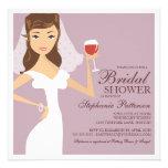 Invitación nupcial de la ducha de la novia del tem