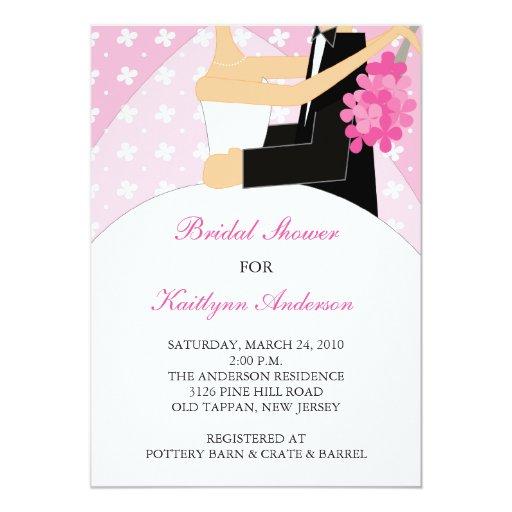 Invitación nupcial de la ducha de la novia floral invitación 12,7 x 17,8 cm