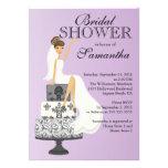 Invitación nupcial   de la ducha de la novia trigu