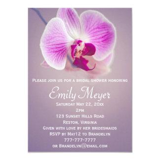 Invitación nupcial de la ducha de la orquídea