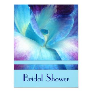 Invitación nupcial de la ducha de la orquídea azul