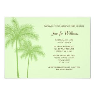 Invitación nupcial de la ducha de la palmera verde