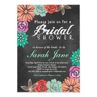 Invitación nupcial de la ducha de la pizarra invitación 12,7 x 17,8 cm