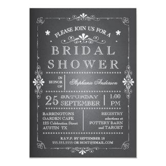 Invitación nupcial de la ducha de la pizarra