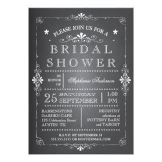 Invitación nupcial de la ducha de la pizarra preci