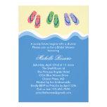 Invitación nupcial de la ducha de la playa de los
