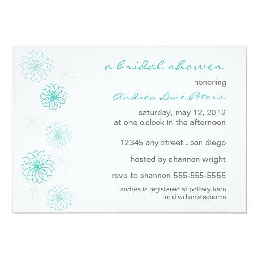 Invitación nupcial de la ducha de la reflexión