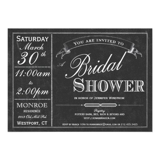 Invitación nupcial de la ducha de la tipografía de