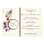 Invitación nupcial de la ducha de la vid de uva