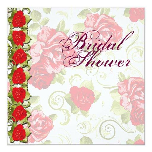 Invitación nupcial de la ducha de las flores color