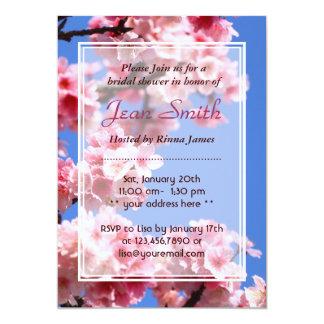 Invitación nupcial de la ducha de las flores de invitación 12,7 x 17,8 cm