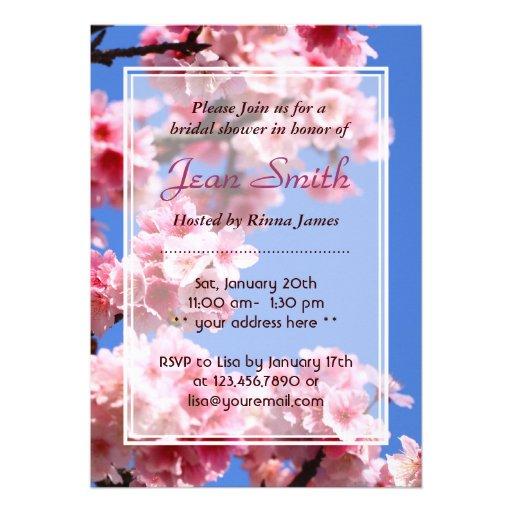 Invitación nupcial de la ducha de las flores de ce
