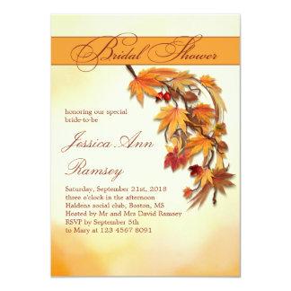 Invitación nupcial de la ducha de las hojas invitación 11,4 x 15,8 cm