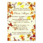 Invitación nupcial de la ducha de las hojas de