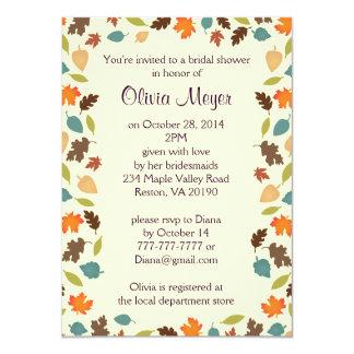 Invitación nupcial de la ducha de las hojas de invitación 11,4 x 15,8 cm
