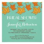 Invitación nupcial de la ducha de las hojas de arc