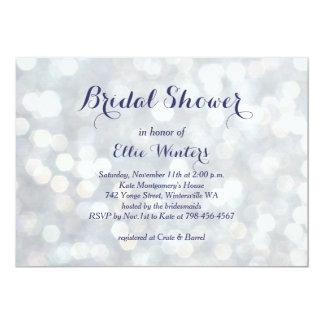 Invitación nupcial de la ducha de las luces invitación 12,7 x 17,8 cm
