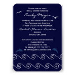 Invitación nupcial de la ducha de las olas oceánic