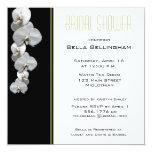Invitación nupcial de la ducha de las orquídeas invitación 13,3 cm x 13,3cm