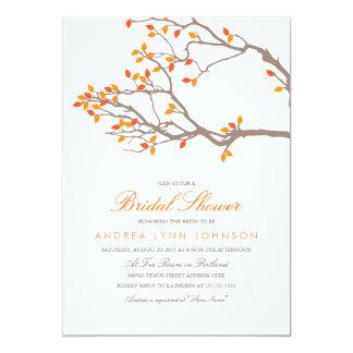 Invitación nupcial de la ducha de las ramas