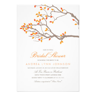 Invitación nupcial de la ducha de las ramas dichos