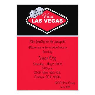 Invitación nupcial de la ducha de Las Vegas