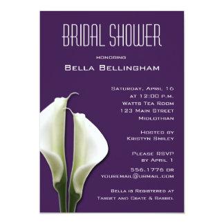 Invitación nupcial de la ducha de Lillies de la