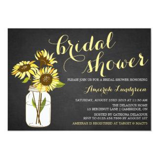 Invitación nupcial de la ducha de los girasoles
