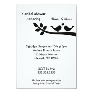 Invitación nupcial de la ducha de los Lovebirds