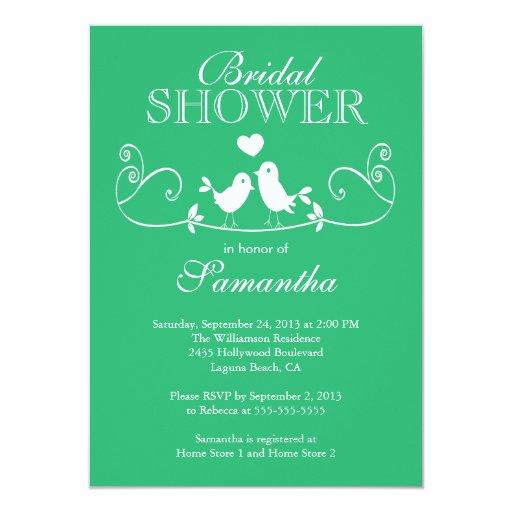 Invitación nupcial de la ducha de los pájaros