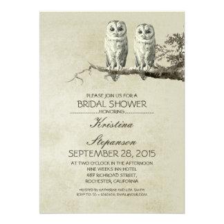 Invitación nupcial de la ducha de los pares rústic