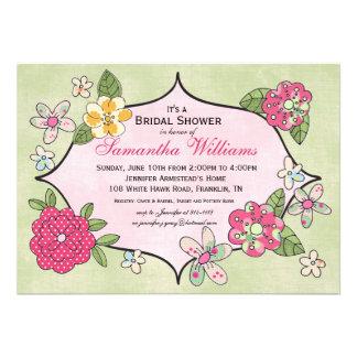 Invitación nupcial de la ducha de los ramilletes b