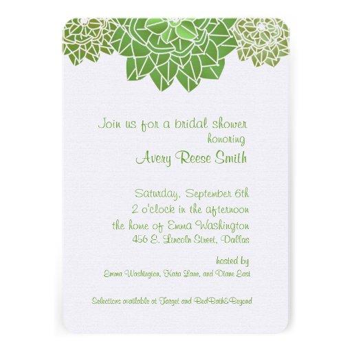 Invitación nupcial de la ducha de los Succulents