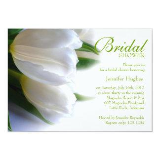 Invitación nupcial de la ducha de los tulipanes invitación 12,7 x 17,8 cm