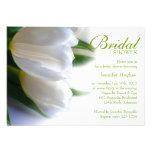 Invitación nupcial de la ducha de los tulipanes bl