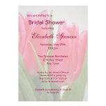 Invitación nupcial de la ducha de los tulipanes de