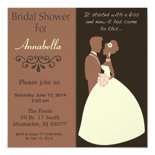 Invitación nupcial de la ducha de novia y del