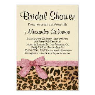Invitación nupcial de la ducha del arco del rosa