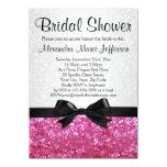 Invitación nupcial de la ducha del arco rosado de invitación 11,4 x 15,8 cm