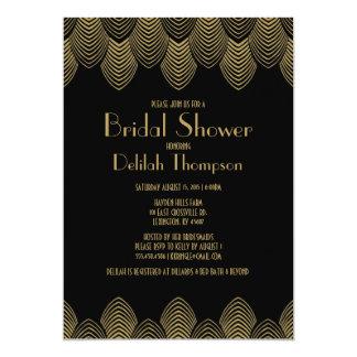 Invitación nupcial de la ducha del art déco de los