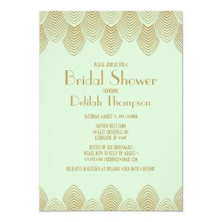 Invitación nupcial de la ducha del art déco de los invitación 12,7 x 17,8 cm