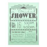 Invitación nupcial de la ducha del art déco - esti