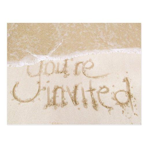 Invitación nupcial de la ducha del boda de playa-- postales